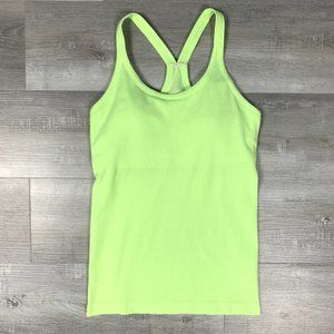 Lululemon Lime Green Built in Bra Workout Tank Top